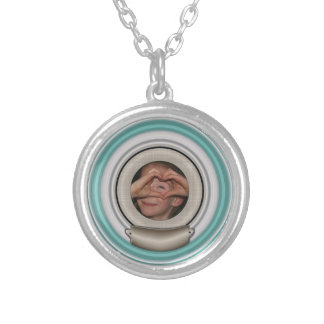 Add Your Photo and Choose Any Color Frame Round Pendant Necklace