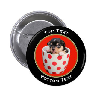 Add Your Photo and Text Custom Pinback Button