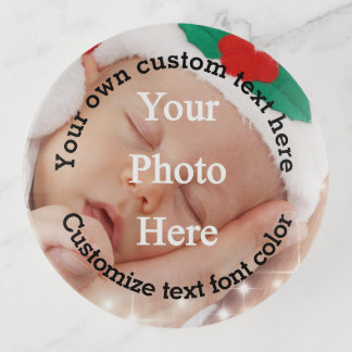 Add your photo and text template trinket trays
