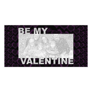 ADD Your Photo Be My Valentine Frame - Goth Hearts Card