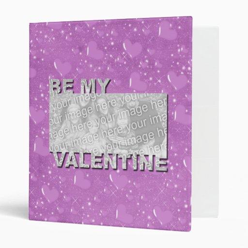 ADD Your Photo Be My Valentine Frame - Purple Hear Binder