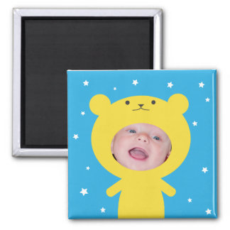 Add Your Photo Bear Frame 2 Inch Square Magnet