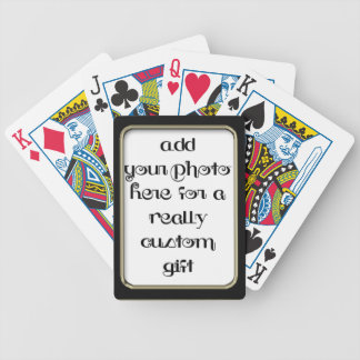 Add Your photo Black Frame Bicycle® Play Bicycle Playing Cards