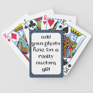 Add Your Photo Blue Frame Bicycle® Play Bicycle Playing Cards