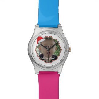 Add YOUR PHOTO Christmas Template Watches