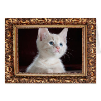 Add Your Photo Custom Antique Frame Card