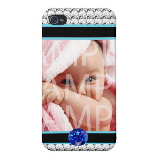 Add your photo, diamonds  case for iPhone 4