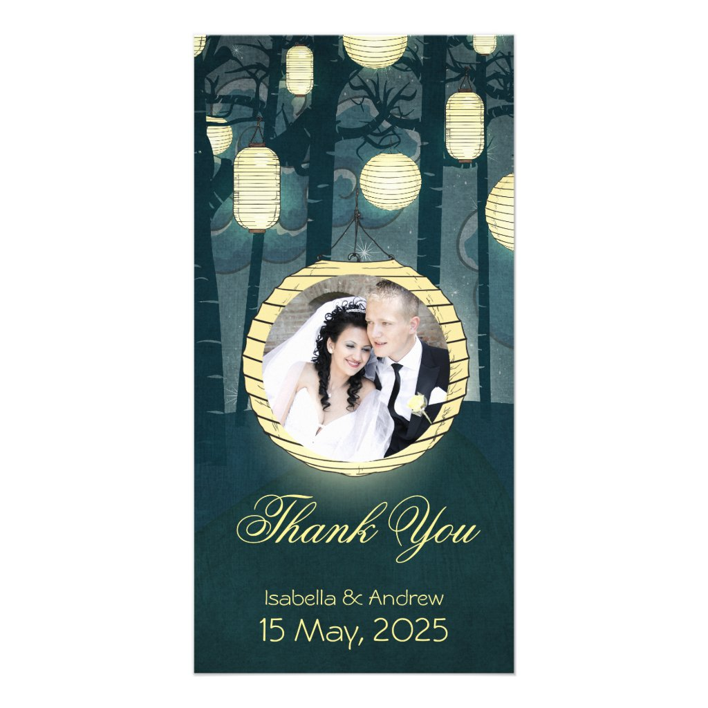 Add your photo Dream Forest Wedding Thank You 10 cards.