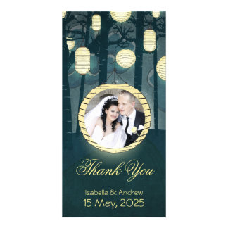 Add your photo Dream Forest Wedding Thank You Photo Cards