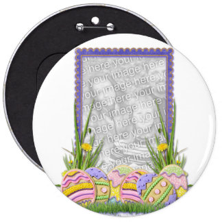 ADD YOUR PHOTO - Easter Egg Cookies Pinback Button