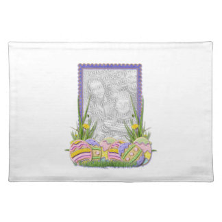 ADD YOUR PHOTO Easter Egg Cookies Cloth Placemat