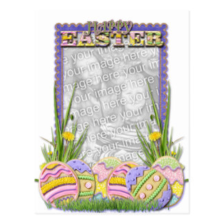 ADD YOUR PHOTO - Easter Egg Cookies Postcard