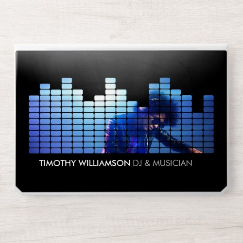 Add Your Photo Equalizer DJs, Musicians HP Laptop Skin