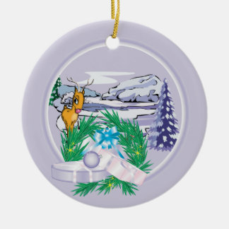 Add Your Photo Goat Holiday Christmas Ornament