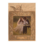 Add Your Photo! Gorgeous Angel & Ornate Gold Frame Cork Paper Prints