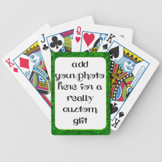 Add Your Photo Green Frame Bicycle® Play Bicycle Playing Cards
