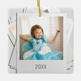 Add your Photo Hanging Pile Retro Prints Ornament
