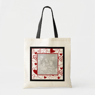 Add Your Photo Heart Tote Bag
