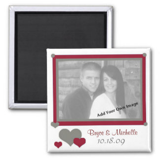 Add Your Photo In Love Hearts and Red Magnet