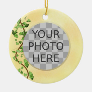 """Add Your Photo"" Italian Wall with Ivy Christmas Tree Ornament"