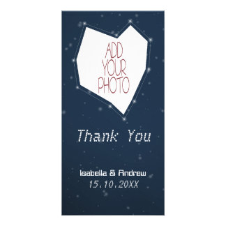 Add Your Photo Love Constellation Thank You Photo Card