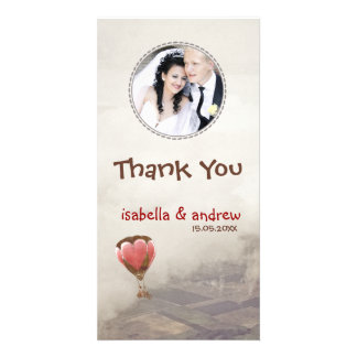 Add Your Photo Love Dream Thank You Photo Card