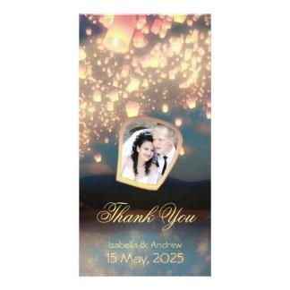 Add Your Photo Love Wish Lanterns Photo Card