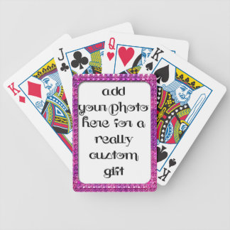 Add Your Photo Magenta Frame Bicycle® Play Bicycle Playing Cards