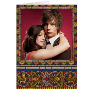 Add Your Photo Medieval Gothic Template Card