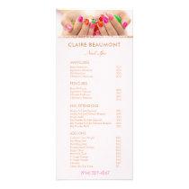 Add Your Photo Nail Salon Price List Service Menu
