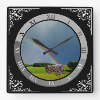 ADD YOUR PHOTO OR TEXT SQUARE WALL CLOCK