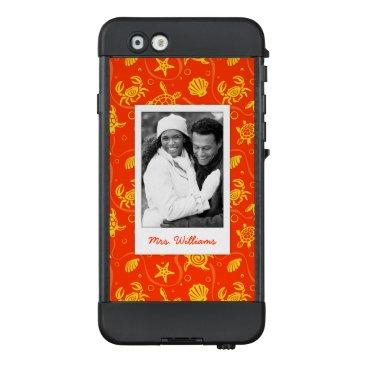 Beach Themed Add Your Photo | Orange Beach Pattern LifeProof® NÜÜD® iPhone 6 Case