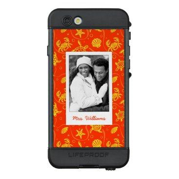 Beach Themed Add Your Photo | Orange Beach Pattern LifeProof® NÜÜD® iPhone 6s Case