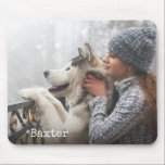 """Add Your Photo Personalized Mouse Pad<br><div class=""""desc"""">Create a custom mouse pad using a favorite photo or other image with this customizable design. A text template is included to personalize with a name or other desired text. Choose a photo of your pet,  your kids,  your bestie,  or whatever suits your fancy! These make great gifts!</div>"""