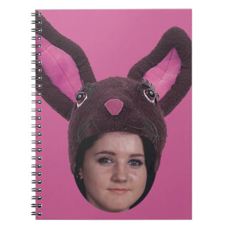 Add Your Photo Pink Bunny Ears Spiral Notebooks