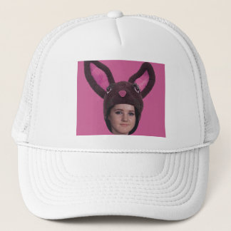 Add Your Photo Pink Bunny Ears Trucker Hat