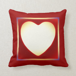 Add Your Photo Red Heart Frame Valentines Pillow
