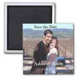 Add your photo SAVE THE DATE wedding magnets