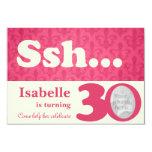 """Add your photo ssh surprise 30th birthday invite 3.5"""" x 5"""" invitation card"""