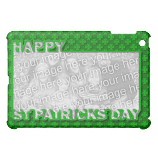 ADD YOUR PHOTO St Pats Cut Out Frame - Shamrocks iPad Mini Covers
