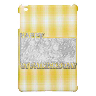 ADD YOUR PHOTO St Pats Cut Out Frame Yellow Clover iPad Mini Case