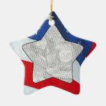 Add Your Photo Stars & Stripes Ornament