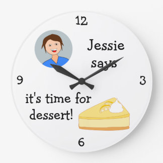 Add Your Photo: 'Time for Dessert' Large Clock