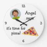 Add Your Photo: 'Time for Pizza' Clocks