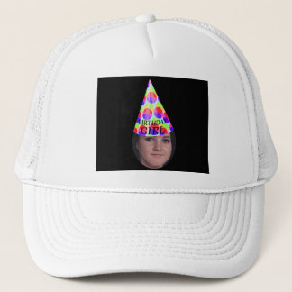 Add Your Photo To A Birthday Girl Party Hat