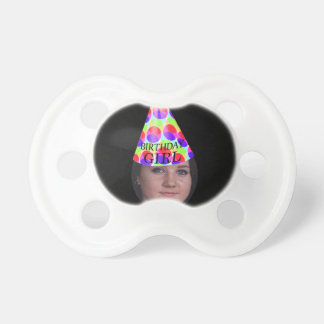 Add Your Photo To A Birthday Girl Party Hat BooginHead Pacifier