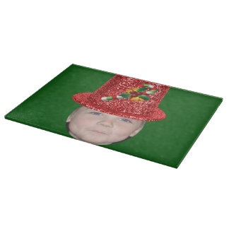 Add Your Photo To A Candy Cane Christmas Hat Cutting Board