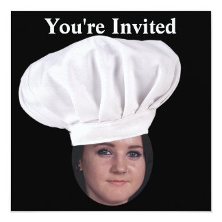 Add Your Photo To A Chef Hat Custom Invites