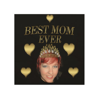 Add Your Photo To A Mothers Day Tiara Wood Wall Decor