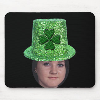 Add Your Photo To A St. Patricks Glitter Hat Mouse Pad
